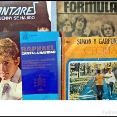 Disques de vinyle: LOTE DE 23 SINGLES ANTIGUOS. RAPHAEL, SIMON AND GARFUNKEL, FÓRMULA V, KANTARES, LOS GOLFOS.... Lote 286610553