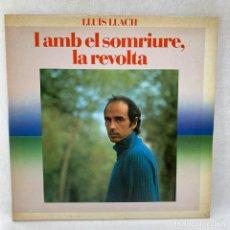 Discos de vinilo: LP - VINILO LLUÍS LLACH - I AMB EL SOMRIURE, LA REVOLTA - DOBLE PORTADA - ESPAÑA - AÑO 1982. Lote 286782678