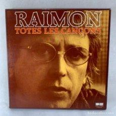 Disques de vinyle: LP - VINILO RAIMON - TOTES LES CANÇONS - 10 VINILOS + LIBRETO - CAJA COMPLETA - ESPAÑA - AÑO 1981. Lote 286796278