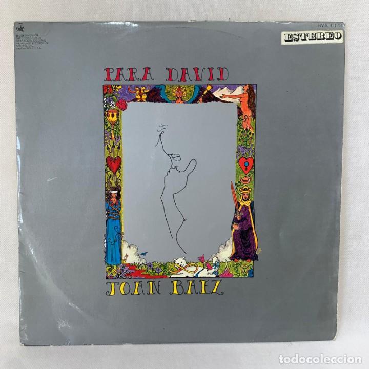 LP - VINILO JOAN BAEZ - PARA DAVID - ESPAÑA - AÑO 1969 (Música - Discos - LP Vinilo - Country y Folk)