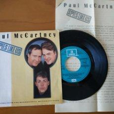 Discos de vinilo: BEATLES PAUL MCCARTNEY SG PROMO SPAIN +HOJAS RADIO. Lote 286819188