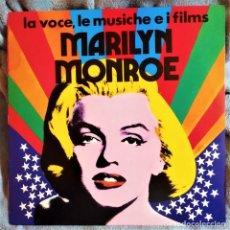 Discos de vinilo: MARILYN MONROE – LA VOCE, LE MUSICHE E I FILMS , ITALIA 1974, RCA –TPL1 7025(E), COMO NUEVO (NM_NM). Lote 286822333
