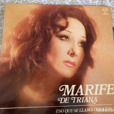 Discos de vinilo: LP MARIFE DE TRIANA-ESO QUE SE LLAMA CORAZON. Lote 286839903