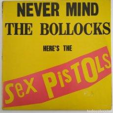 Discos de vinilo: SEX PISTOLS - NEVER MIND THE BOLLOCKS - 1977 - ESPAÑA - LABEL COLOREADAS - 25.593-I - VIRGIN. Lote 286772038
