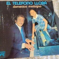 Discos de vinilo: LP DOMENICO MODUGNO-EL TELEFONO LLORA. Lote 286842618