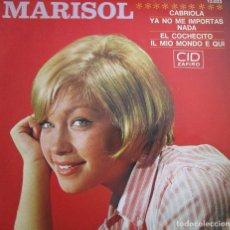 Discos de vinilo: MARISOL DISCO HECHO EN FRANCIA : CABRIOLA , EL COCHECITO ; IL MIO MONDO E QUI , YA NO ME IMPORTADA N. Lote 286873998