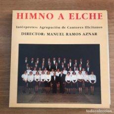 """Discos de vinilo: AGRUPACIÓN DE CANTORES ILICITANOS - HIMNO A ELCHE - 12"""" MAXISINGLE MFR 1994. Lote 286875103"""