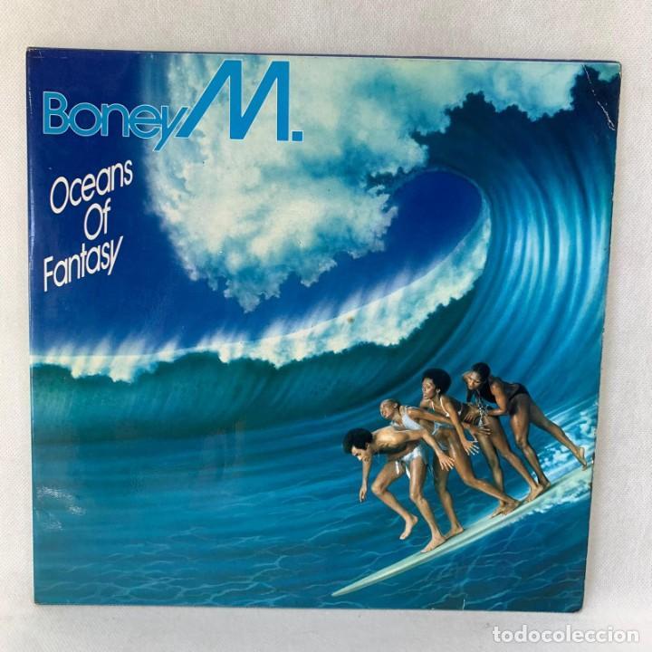 LP - VINILO BONEY M. - OCEANS OF FANTASY - DOBLE PORTADA PÓSTER + ENCARTE - ESPAÑA - AÑO 1982 (Música - Discos - LP Vinilo - Pop - Rock - New Wave Internacional de los 80)