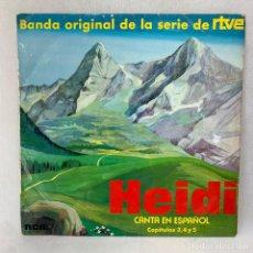 Discos de vinilo: LP - VINILO HEIDI CANTA EN ESPAÑOL / CAPÍTULOS 3, 4 Y 5 - ESPAÑA - AÑO 1975. Lote 286880293
