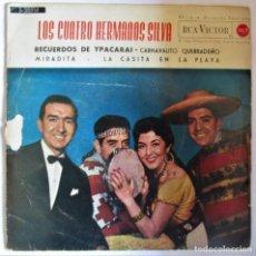Discos de vinilo: SINGLES/. LOS CUATRO HERMANOS SILVA. RECUERDOS DE YPACARAI.. Lote 286883923