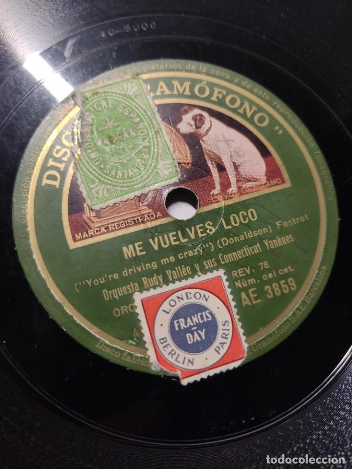 DISCO PIZARRA ME VUELVES LOCO Y ESTA ES MI SEÑORA ORQUESTA RUDY VALLÉE & SUS CONNECTICUT YANKEES (Música - Discos de Vinilo - Maxi Singles - Jazz, Jazz-Rock, Blues y R&B)