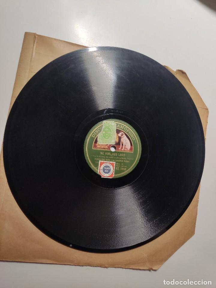 Discos de vinilo: Disco pizarra ME VUELVES LOCO y ESTA ES MI SEÑORA Orquesta Rudy Vallée & sus Connecticut Yankees - Foto 2 - 286912123