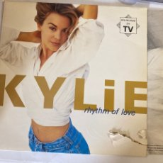 Disques de vinyle: KYLIE MINOGUE-RHYTHM OF LOVE-1990-CARPETA CON DESGARRO VINILO EXCELENTE. Lote 286964918