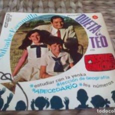 Discos de vinilo: SG. QUETA Y TEO CON SALVADOR ESCAMILLA. Lote 286983468