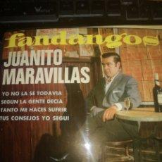 Discos de vinilo: VINILO JUANITO MARAVILLAS FANDANGO BELTER. Lote 286995643