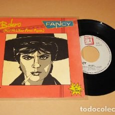 Disques de vinyle: FANCY - BOLERO (HOLD ME IN YOUR ARMS AGAIN) - PROMO SINGLE - 1986 - SPAIN. Lote 287017948