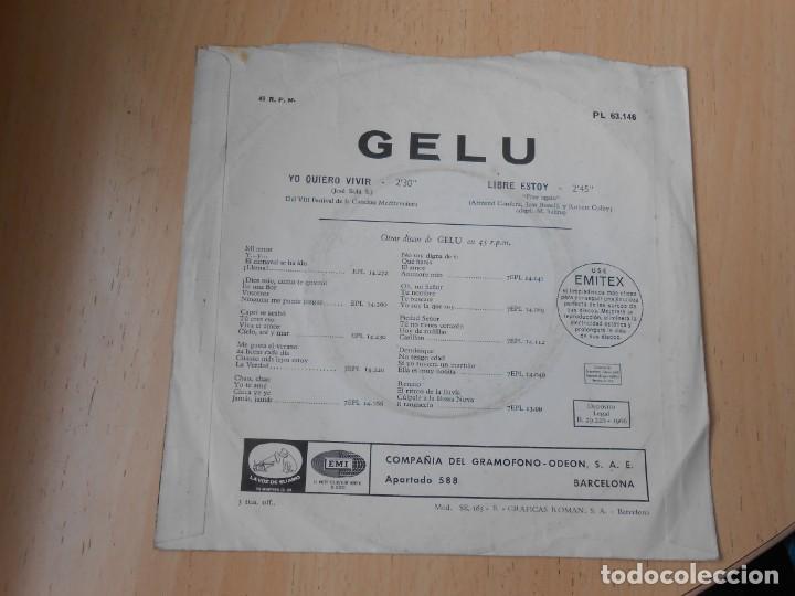 Discos de vinilo: GELU, SG, YO QUIERO VIVIR + 1, AÑO 1966 - Foto 2 - 287058008