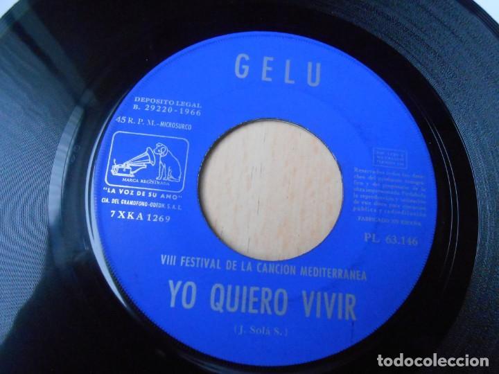 Discos de vinilo: GELU, SG, YO QUIERO VIVIR + 1, AÑO 1966 - Foto 3 - 287058008