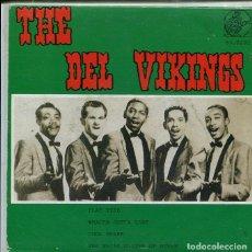 Disques de vinyle: THE DEL VIKINGS / FLAT TYRE + 3 (EP ALIGATOR 1986). Lote 287060253