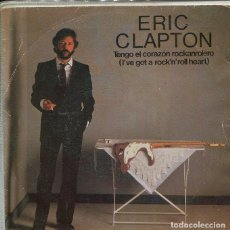 Disques de vinyle: ERIC CLAPTON / TENGO EL CORAZO ROCKANROLERO / MAN IN LOVE (SINGLE WEA 1983). Lote 287068163