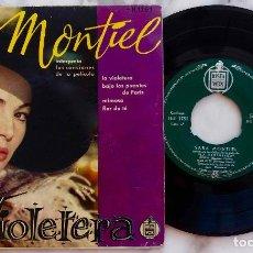 Discos de vinilo: SARA MONTIEL. LA VIOLETERA + 3. INTERPRETA LAS CANCIONES DE LA PELICULA. EP ESPAÑA ORIGINAL AÑOS 50. Lote 287077243