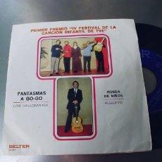 Discos de vinilo: ALBERTO-LOS VALDEMOSA-SINGLE FANTASMAS A GO-GO. Lote 287085833