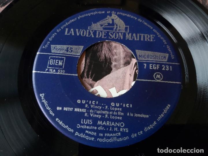 "Discos de vinilo: Luis Mariano – A La Jamaïque ,Vinyl, 7"", EP 1957 France 7 EGF 231 - Foto 3 - 287111878"