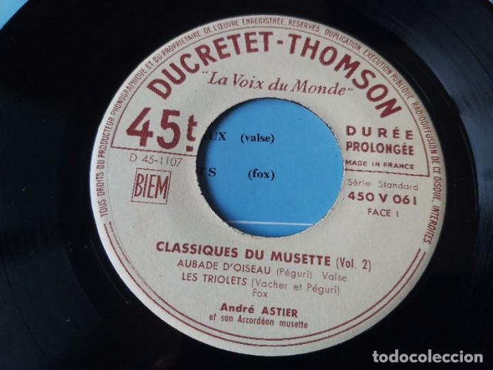 """Discos de vinilo: André Astier - Classiques Du Musette - Vol. 2 ,Vinyl, 7"""", EP 1957 France 450 V 061 - Foto 3 - 287112458"""