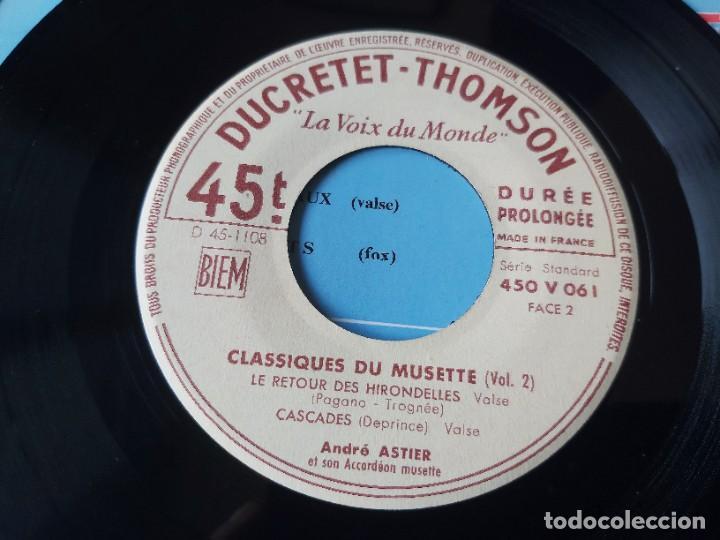 """Discos de vinilo: André Astier - Classiques Du Musette - Vol. 2 ,Vinyl, 7"""", EP 1957 France 450 V 061 - Foto 5 - 287112458"""