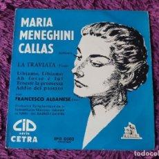 """Discos de vinilo: MARIA MENEGHINI CALLAS – LA TRAVIATA ,VINYL, 7"""", EP FRANCE EPO 0303. Lote 287112903"""