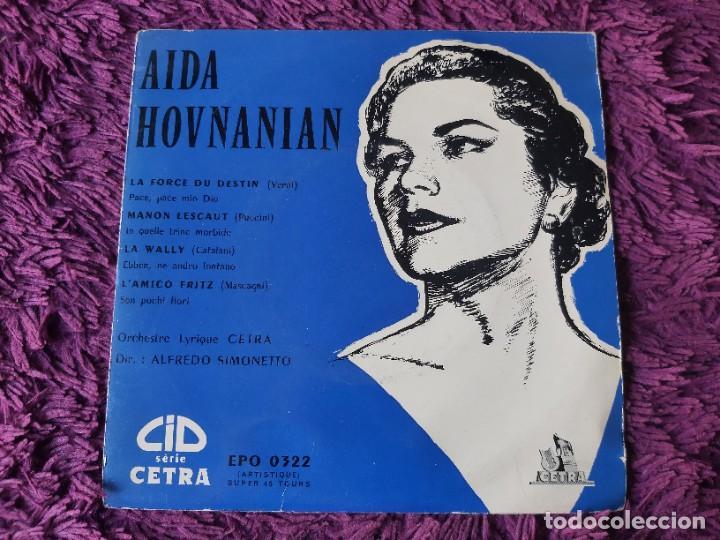 """AIDA HOVNANIAN ,VINYL, 7"""", EP 1955 FRANCE EPO 0322 (Música - Discos de Vinilo - EPs - Clásica, Ópera, Zarzuela y Marchas)"""