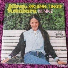 """Discos de vinilo: MIREN ARANBURU – ZAKURREK DAKITE ,VINYL, 7"""", SINGLE 1977 SPAIN SN-02.1265/7. Lote 287114458"""