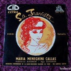 """Discos de vinilo: MARIA MENEGHINI CALLAS – LA TRAVIATA ,VINYL, 7"""", EP FRANCE EPO 0317. Lote 287115313"""