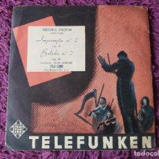 "Discos de vinilo: FRÉDÉRIC CHOPIN / POLDI MILDNER – IMPROMPTU N.º 2 OP. 3 ,VINYL, 7"", SINGLE SPAIN TFJ 12001. Lote 287116443"