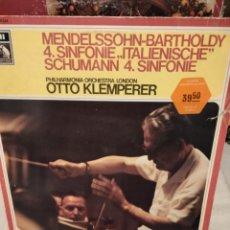 Discos de vinilo: MENDELSSOHN, SCHUMANN - SINFONÍAS, KLEMPERER. Lote 287130718