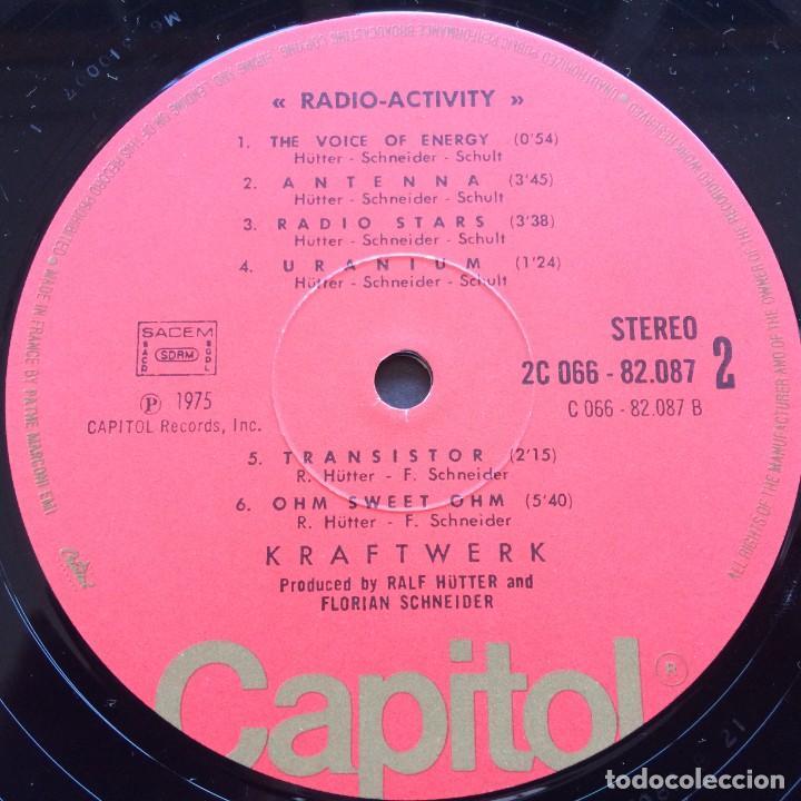 Discos de vinilo: Kraftwerk – Radio-Activity , France 1975 Capitol Records - Foto 6 - 287137113
