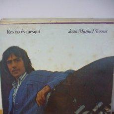Discos de vinilo: SERRAT RES NO ES MESQUI. Lote 287140233
