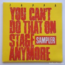 Discos de vinilo: FRANK ZAPPA – YOU CAN'T DO THAT ON STAGE ANYMORE SAMPLER, 2 VINYLS UK 1988 ZAPPA RECORDS. Lote 287167598