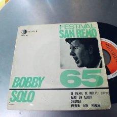 Discos de vinilo: BOBBY SOLO-EP SAN REMO 65. Lote 287176768