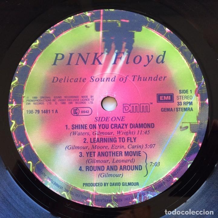 Discos de vinilo: Pink Floyd – Delicate Sound Of Thunder, 2 Vinyls Europe 1988 EMI - Foto 8 - 287178138