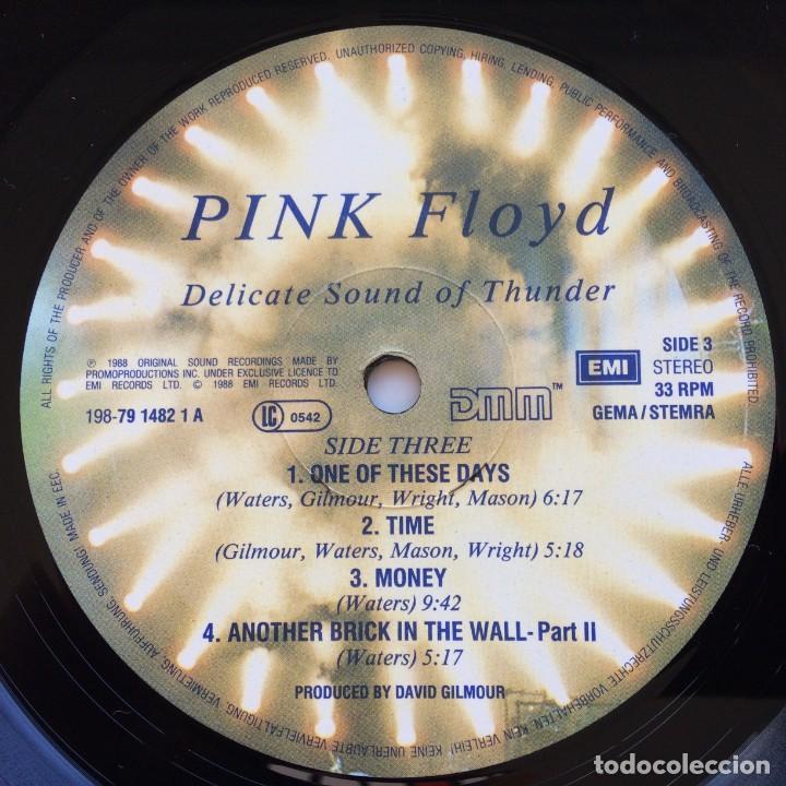 Discos de vinilo: Pink Floyd – Delicate Sound Of Thunder, 2 Vinyls Europe 1988 EMI - Foto 10 - 287178138