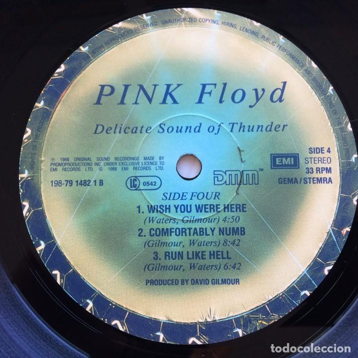 Discos de vinilo: Pink Floyd – Delicate Sound Of Thunder, 2 Vinyls Europe 1988 EMI - Foto 11 - 287178138