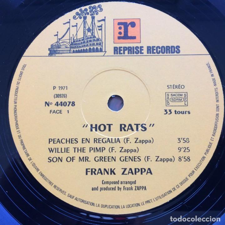 Discos de vinilo: Frank Zappa – Hot Rats, France 1976 Reprise Records - Foto 4 - 287178563