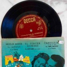 Discos de vinilo: MANTOVANI.A. KARAS.F. CHACKSFIELD.STANLEY BLACK.MOULIN ROUGE.EL TERCER HOMBRE.CANDILEJAS...EP ESPAÑA. Lote 287196483