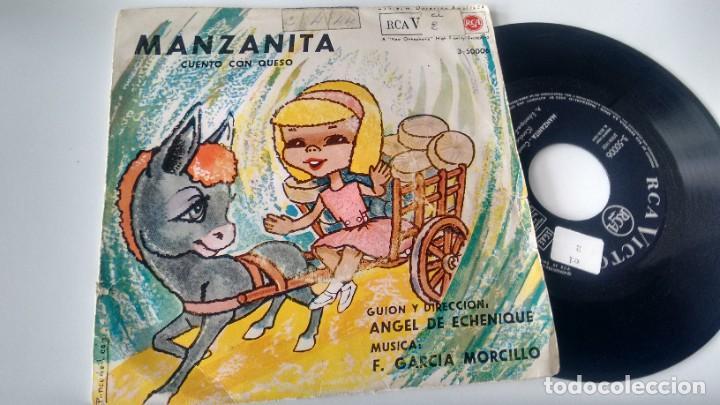 SINGLE (VINILO) CON EL CUENTO INFANTIL MANZANITA AÑOS 60 (Música - Discos - Singles Vinilo - Música Infantil)