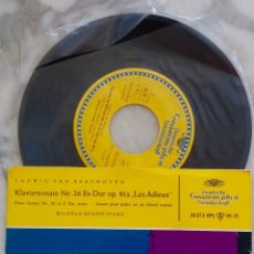 Discos de vinilo: BEETHOVEN. KLAVIERSONATE Nº 26. WILHELM KEMPFF. EP ORIGINAL ALEMANIA. Lote 287197098