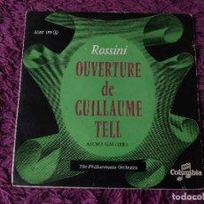 "Discos de vinilo: ROSSINI - OUVERTURE DE GUILLAUME TELL ,VINYL, 7"", SINGLE FRANCE ESBF 159. Lote 287204078"