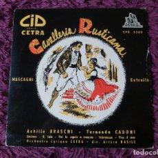 """Discos de vinilo: MASCAGNI – CAVALLERIA RUSTICANA ,VINYL, 7"""", EP FRANCE EPO 0308. Lote 287210158"""