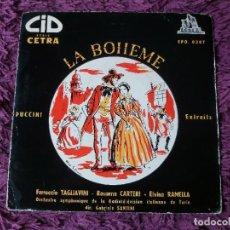 """Discos de vinilo: PUCCINI – LA BOHEME ,VINYL, 7"""", EP FRANCE EPO. 0307. Lote 287211513"""