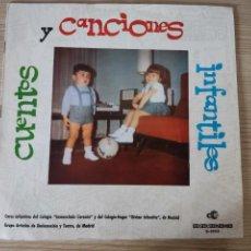 Discos de vinilo: CANCIONES Y CUENTOS INFANTILES • DISCORAMA. Lote 287215108